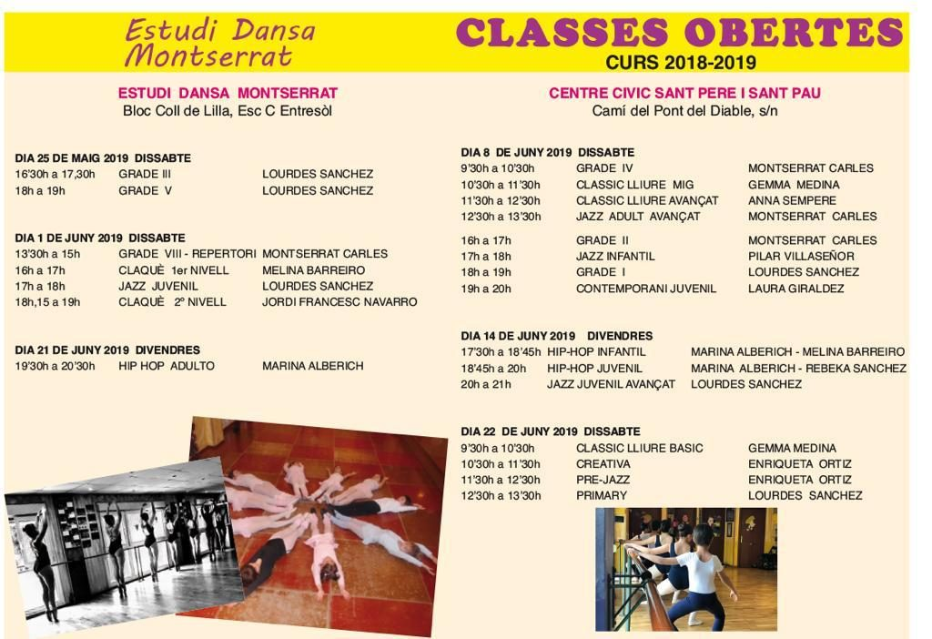 classes obertes